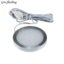 1Pcs Dimmable 2.5W DC12V LED Under Cabinet Light Home Kitchen Closet Display Case Puck Lights light No driver