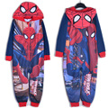 2016 Más Nuevos Muchachos onesie Niños manta cama ropa de Spiderman pijamas de Los Cabritos ropa de noche/traje/traje de mono con capucha de los mamelucos del mono