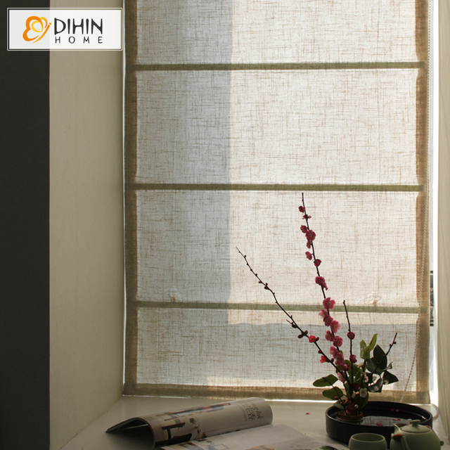 Included Curtains 40 50 Blackout Rate Beige Color Customize Roman Curtain Rollor Blind Window