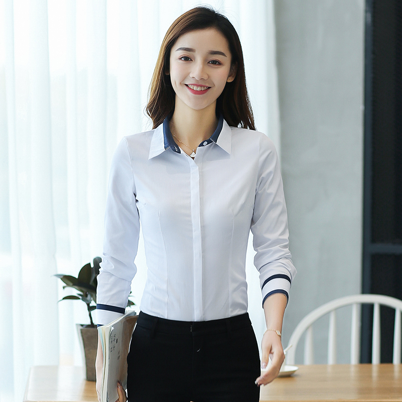 Fashion Blouses Womens Tops and Blouse Autumn Loose Blouse Women Long Sleeve Blouse White Woman Ladies Shirts Plus Size XXL