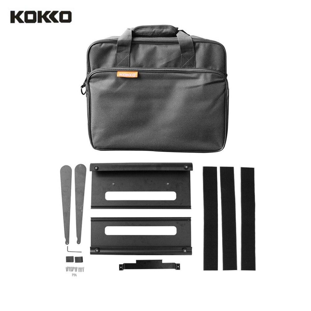 KOKKO KB-02 Aluminum Alloy Portable Guitar Effect Board Guitar Effect Pedal Board Black Pedalboard Musical Instrument Accessory цена