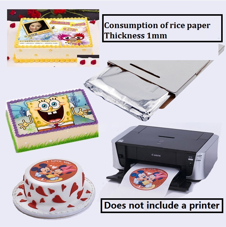 [4Y4A] 25pcs/bag Edible Printing Sticky Rice Paper A4 Thick Sugar Cream Paper Thickness 1mm  And 0.65mm