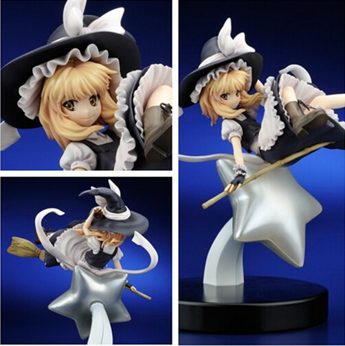 NEW hot 23cm TouHou Project Kirisame Marisa Action figure toys doll collection Christmas gift with box 2016 new short bobo haircuts wigs silver white strike the blood date a live tobiichi origami touhou project youmu konpaku