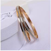 11.11 Hot New Fashion Metal Flash Chain & Link Bracelets Women Jewelry Double Gold Silver Bilezik Opening Gift Mujer Pulseras(China)