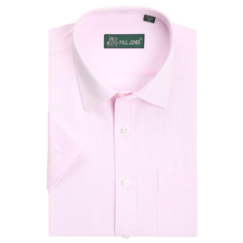Men's Striped Short Sleeve Shirts Non-Iron High Quality Brand Male Socail Shirts Formal Business Shirt