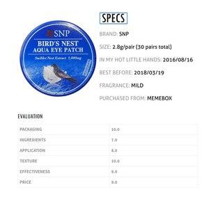 Image 3 - SNP 1000 mg של ציפור קן אקווה העין תיקון 60 תיקוני עם חומצה היאלורונית לחות EGF אנטי הזדקנות תחת עין מסכה