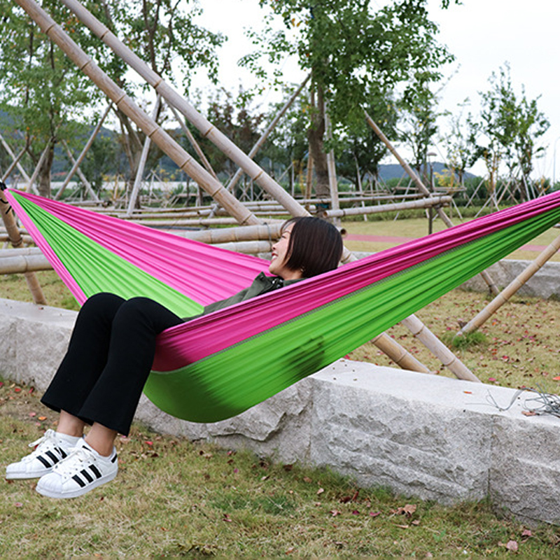 Awe Inspiring Portable Camping Hammock Nylon Double Hammock Outdoor Furniture Hanging Chair Indoor Garden Swing Chair Hunting Leisure Bed Gift Download Free Architecture Designs Ferenbritishbridgeorg