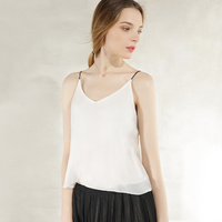Summer New Solid Color Sleeveless Loose Thin Thin Double Layer Chiffon Hanging Vest Sg07129