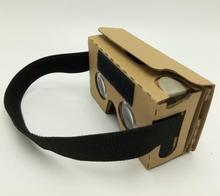 1000pcs can customise logo Google Cardboard 2.0 VR Virtual Reality 3d Glasses oculus rift HeadMount Cardboard V2 vr box