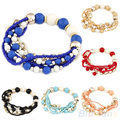 Women's Fashion Bohemian Style Beads Multi-layered Bracelet 1NPW