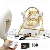 Авто качели электрические детские качели кресло качалка с музыкой Автоматическая Колыбель Детские спальные корзины placarders шезлонг новорож