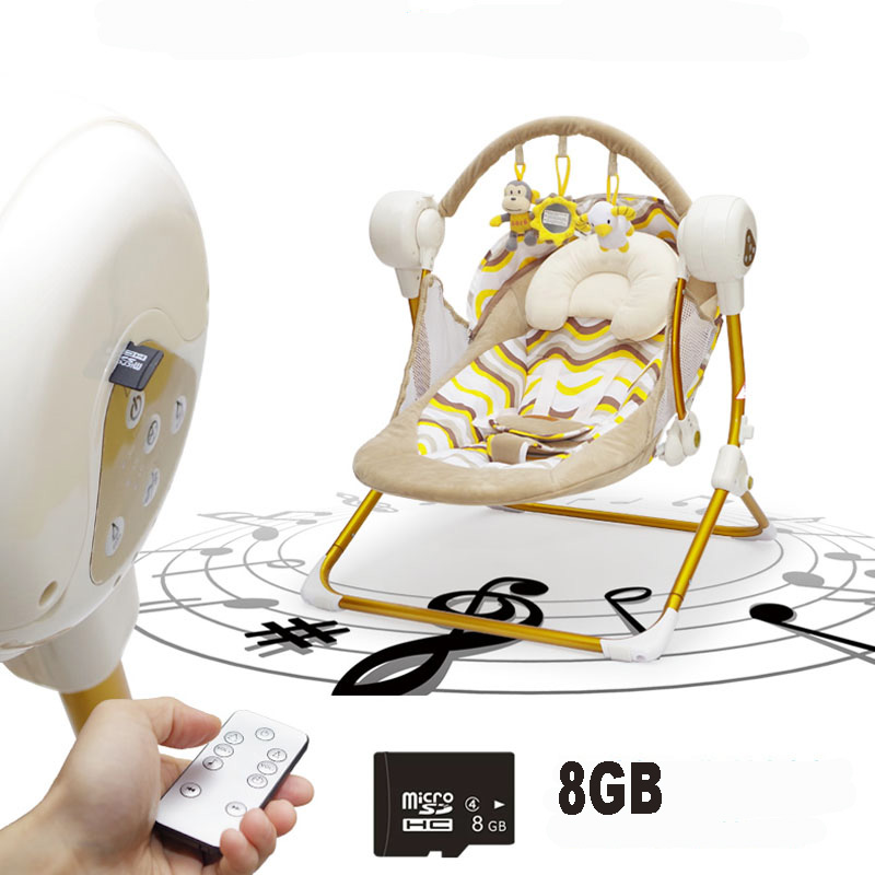 Auto-swing Electric Baby Swing Rocking Chair With Music Automatic Cradle Baby Sleeping Basket Placarders Chaise Lounge Baby