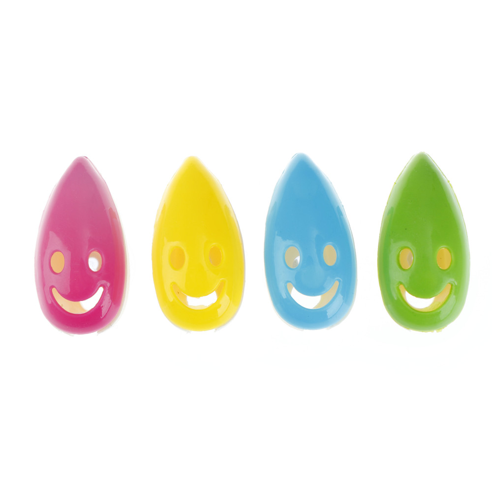 4pcs/set Cute Smile Face Suction Toothbrush Holder Case Cover Travel Hiking Camping Portable Brush Cap Protective Shell Random image