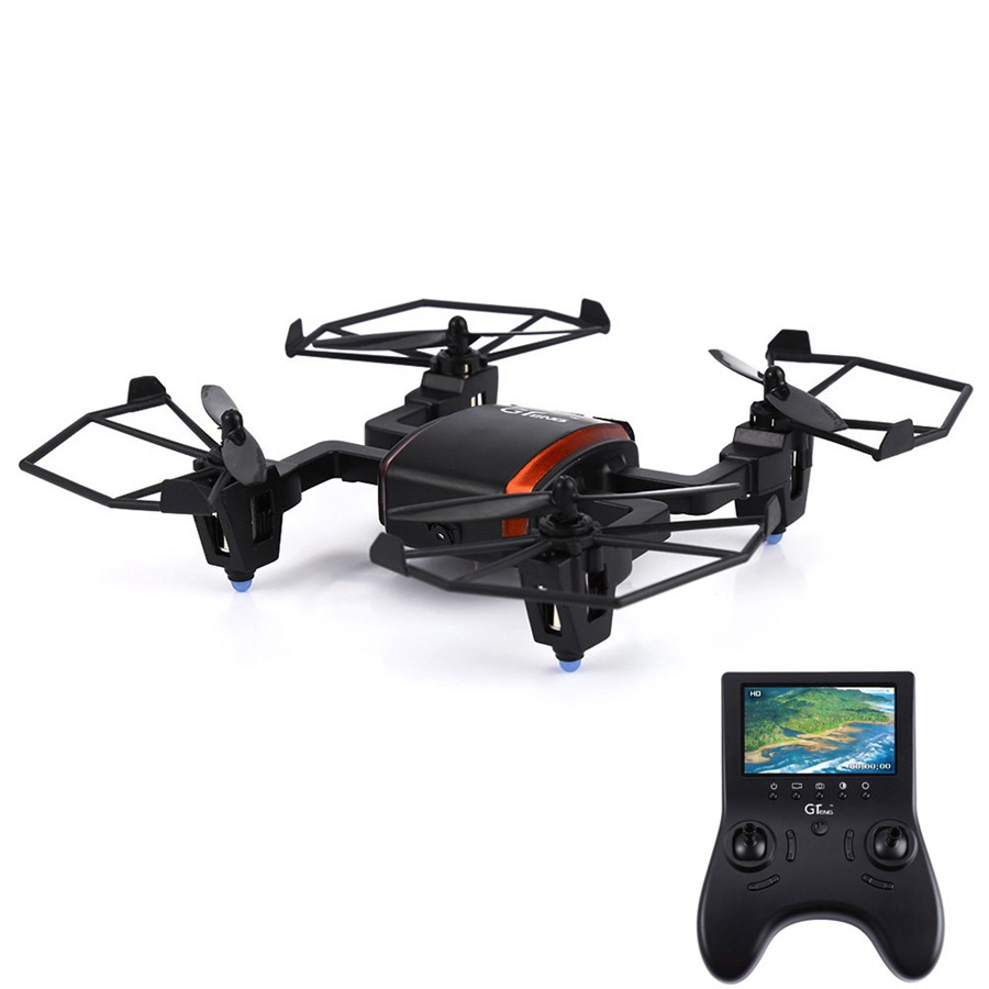 GTeng T901F Drone 5.8G Real-time Transmission 2MP 2.4GHz 4CH 6 Axis Gyro Quadcopter Remote Control Helicopter 4.3' LCD Screen