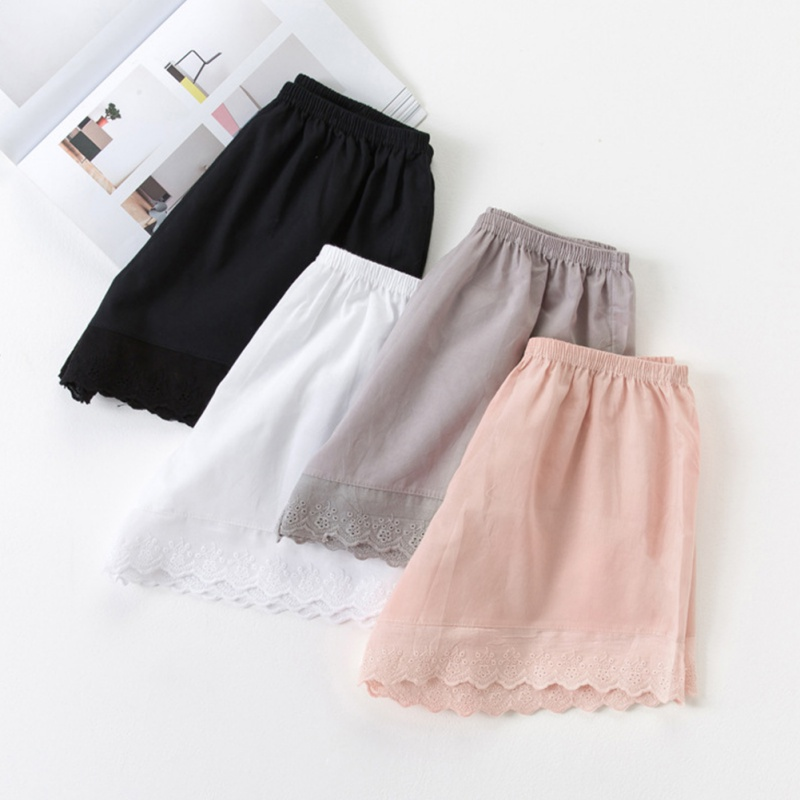 2019 Women's Summer Shorts Cotton Lace Comfortable Solid Color Shorts Women's Casual Breathable Light  Shorts