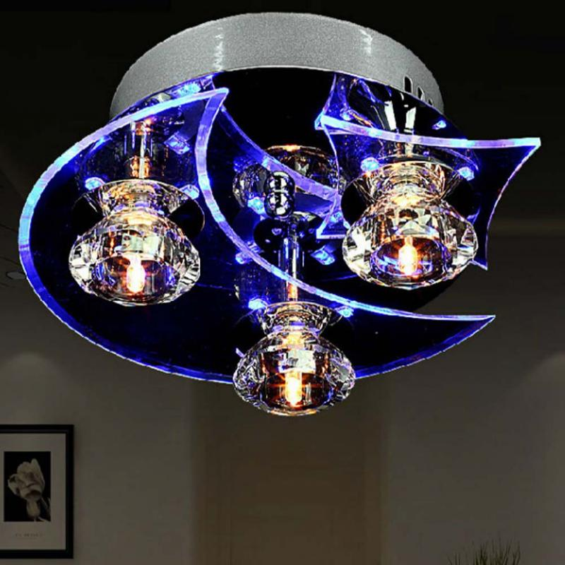 Moon Star Retro Dining Room Crystal Chandelier Ceiling LED Light Pendant LightsChina Mainland