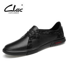 CLAX Mens Shoes Leather 2019 Spring Summer Male Casual Shoe Designer Fashion Man Derby Footwear Soft