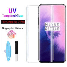 5D UV Liquid Curved Full Glue Tempered Glass For Oneplus 7 Pro Screen Protector Full Cover Case For Oneplus 7 Pro Glass Film