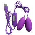 Doble Vibrador Huevo Eléctrico Shocker Vibromasseur Multispeed Clítoris Estimulador 12 Frecuencia USB Bala Juguetes Sexuales Para Adultos