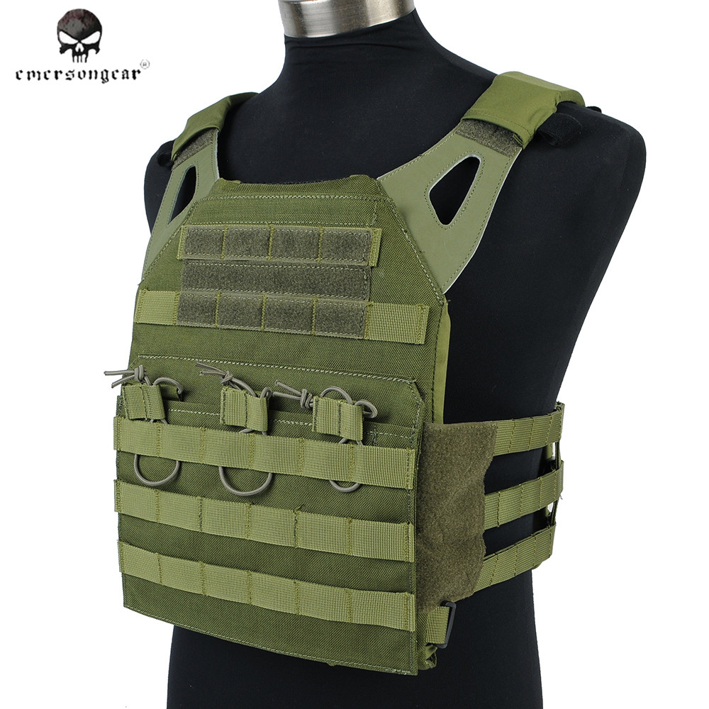 Emerson 1000D JPC Tactical Vest Simplified Version Airsoft Tactical Hunting Protective Molle Vest With Plate Front & Back emerson 1000d molle jpc airsoft tactical vest simplified version outdoor training paintball hunting vest plate carrier em7344