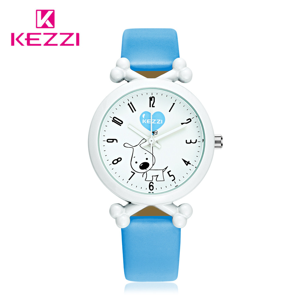 цены KEZZI Top Brand Blue Kids Watches Waterproof Doggy Bon Cartoon Style Quartz Children Watch for Boys Girls Pink montre enfant