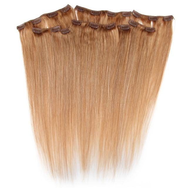 Easy Application Clip In Straight Hair Extension 20 Clips 8 Weft