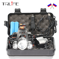 15000Lm T6+2R5 LED Headlight Headlamp Head Lamp Light 4Mode Torch +2x18650 Battery+EU/US Car charger for fishing Lights
