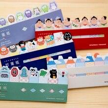 Kawaii Япония/торта, «кошка», «Собака» маркер Закладка Memo pad Флаги вкладка индекса бумаги для заметок на клейкой основе этикетка Бумага блок стикеров канцелярских принадлежностей