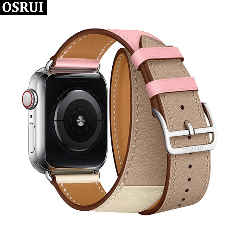 Single tour Leather strap for Apple watch band 4 44mm 40mm aplle correa iwatch band 3/2 42mm 38mm bracelet watchband wrist beltSingle tour Leather strap for Apple watch band 4 44mm 40mm aplle correa iwatch band 3/2 42mm 38mm bracelet watchband wrist belt