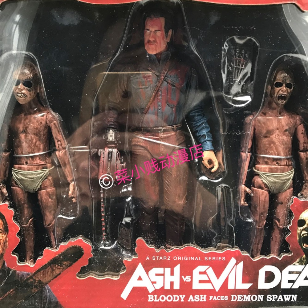 NECA The Evil Dead Series Set Ash Chainsaw Gost Hero Ash Devils Puppet Model Action Figure neca the evil dead ash vs evil dead ash williams eligos pvc action figure collectible model toy 18cm kt3427