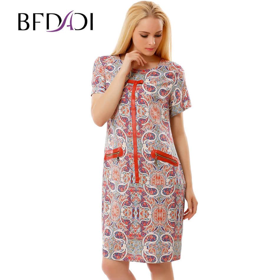 BFDADI Women Summer Dress 2017 plus size clothing Retro ...