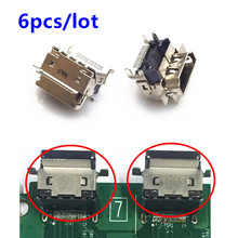 6pcs/lot Xbox one S New 1080P HDMI Socket Interface Connector Port Replacement Parts for XBOX ONE Slim Motherboard Repair Part