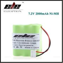Eleoption 7,2 В Ni-MH Батарея для iRobot Braava 320 321/мяты 4200 4205 пол робот-пылесос 4408927 7,2 Вольт