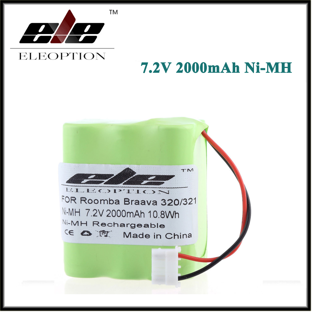 Eleoption 7.2V Ni-MH <font><b>Battery</b></font> For iRobot Braava 320 <font><b>321</b></font>/Mint 4200 4205 Floor Cleaner Robot 4408927 7.2 Volt