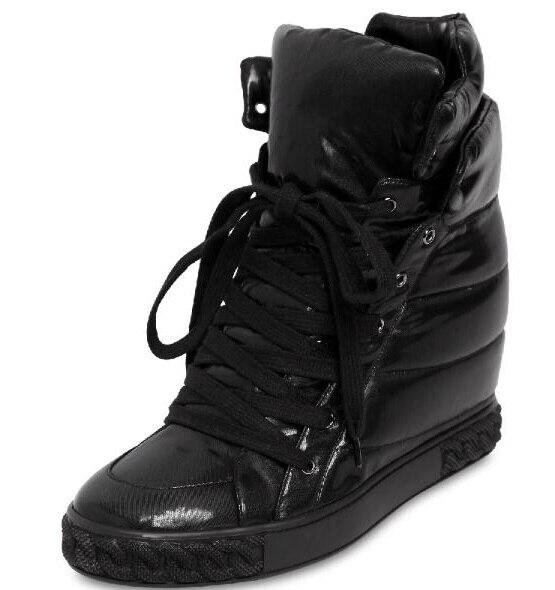 Croissante Hauteur Shipping as Picture Avant Air Cm Rond 8 As Solide Femmes Plein Nouvelles En Noir Hiver Casual Picture Drop Sneakers Up Lace Bout Chaussures Ruban vSdqwzqx