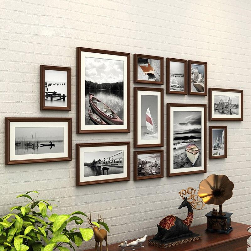 Деревянные рамы для стены фоторамки отделка стен творческий фоторамки для фото Винтаж фоторамки порта портреты