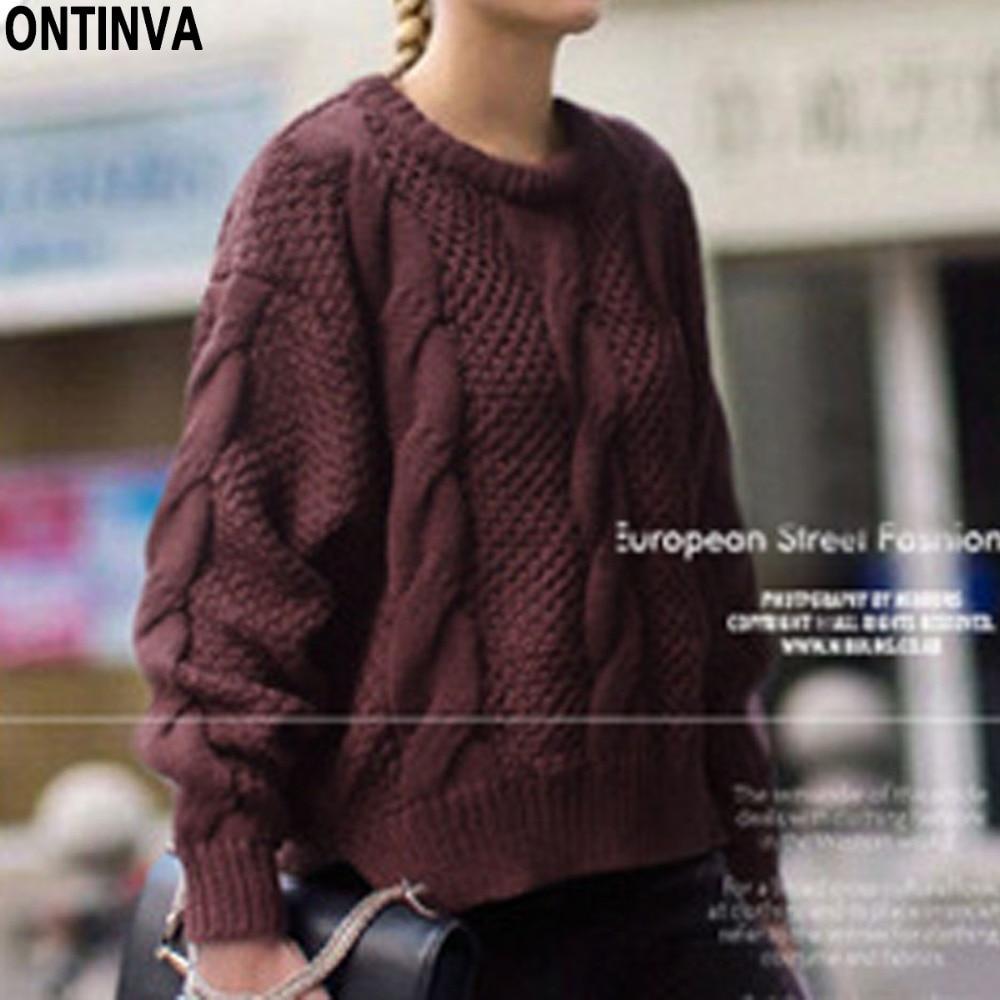 Twist Pattern Gray Knitted Sweater 3XL Plus Size Winter Oversized ...
