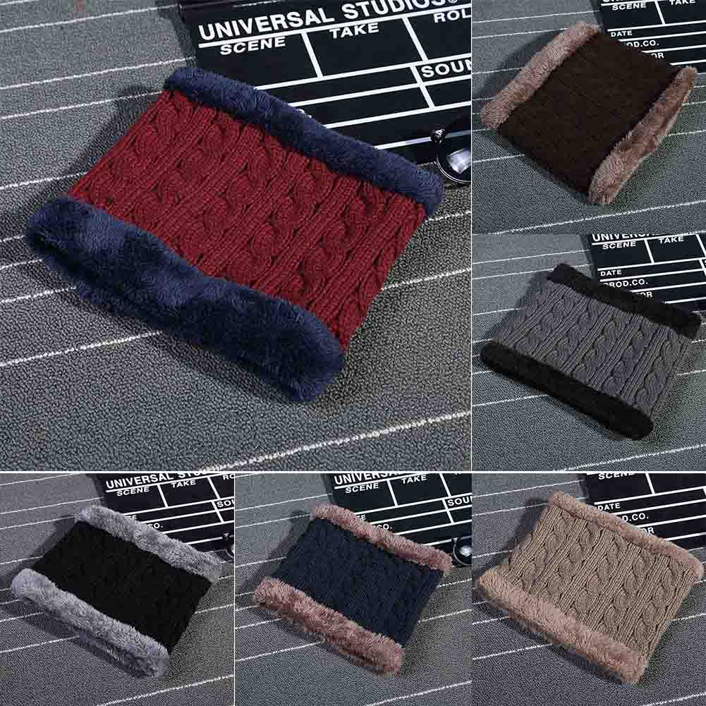 Winter Knitted women Scarves Plus Cotton thick Wool Collar scarf  Warmer Woman Crochet Ring Loop neck Scarf