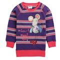 Niños camisetas nova nueva marca baby girl camiseta de algodón del o-cuello de rayas de manga larga t shirt