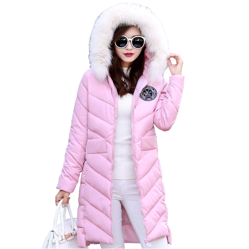 Womens Winter Jackets And Coats Warm Slim Quilted Parka  Furry Hooded Coat Long Ladies Split Jacket Piumino Donna Casacos marina rinaldi by max mara womens plus quilted long sleeves coat