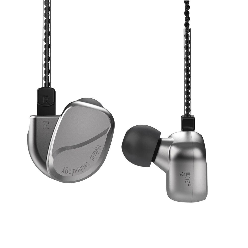 BQEYZ K2 HiFi Running Sport Headset 2DD+2BA Dynamic Hybrid 0.78mm 2pin DIY In Ear Earphones Bass DJ Monitor Earplug Earbud Mic