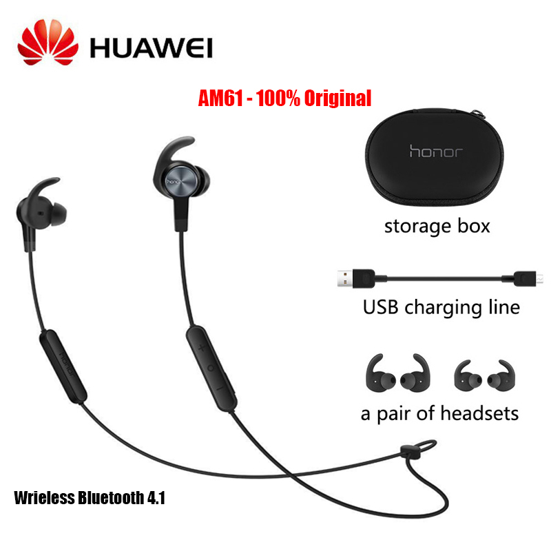 HUAWEI Honor xSport Bluetooth 4 1 AM61 Headset  for Xiaomi Huawei Earphones with IP55 Level Protection Magnetic Design