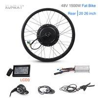 50-55 км/ч Fat Bike 48 в 1500 Вт Электрический мотор колеса 20