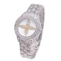2017 Luxury G D Women Quartz Wristwatches Silver Crystal Fashion Women Bracelet Watch Stainless Steel Relojes