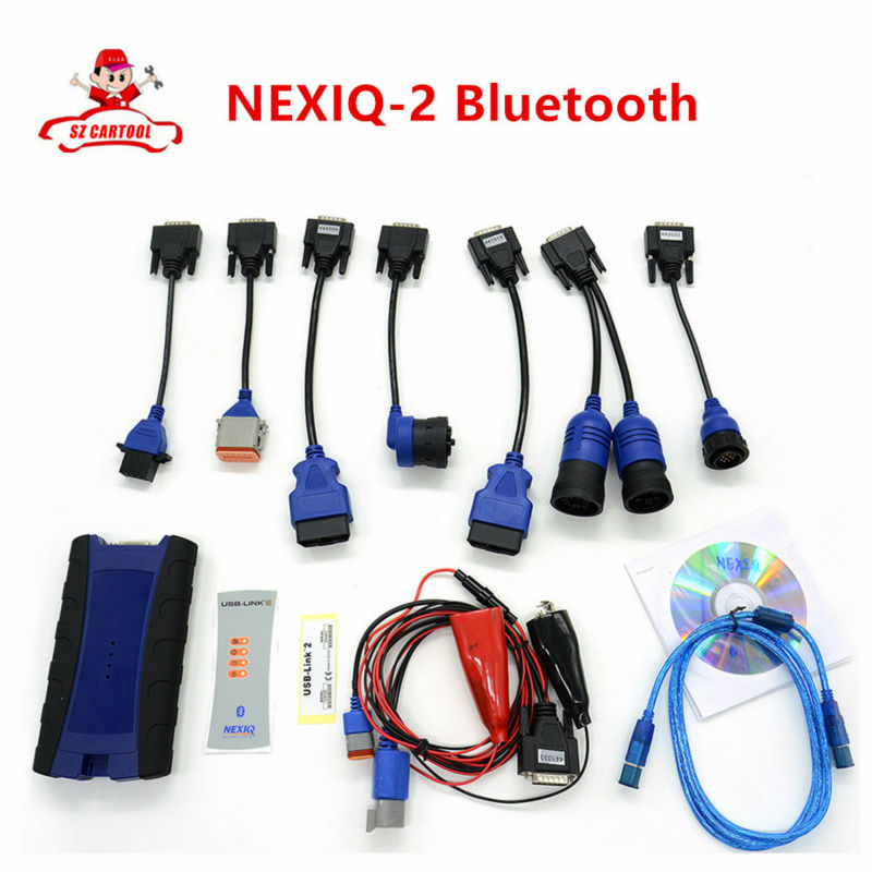 New Arrival NEXIQ-2 USB Link 125032 with Bluetooth Heavy duty Truck Diagnostic Tool Full Set NEXIQ USB LINK-23 DHL Free Shipping