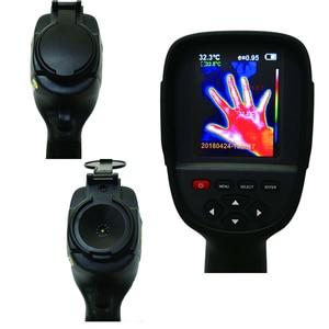 Image 4 - Caméra dimagerie thermique numérique IR portative, détecteur de température, infrarouge, pour chaleur, compatible avec stockage/FLIR thermique, HT 18