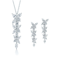 TIFF 925% pure silver necklace in Europe and the original quality goods with the horse eye zircon pendant ladies present