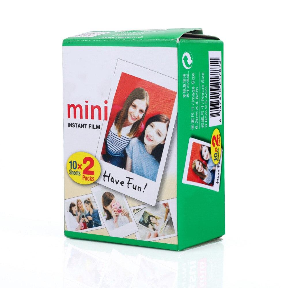 10-40 листов Fujifilm пленка белая пленка для Instax Mini Edge Фотобумага для цифровой фотокамеры Fuji Instax mini 8/фотоаппаратов моментальной печати 7 s/25/50/90 3 дюймов фотоальбом