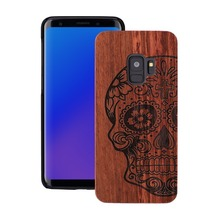 Nature Embossed Wood Phone Cases For Samsung Galaxy S9 Plus Cover Funda Wooden Case PC for Hard Shell Capa
