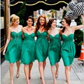 Cheap Short Bridesmaid Dress 2017 Simple Pleat Sweetheart Dress for Wedding Party Satin Customize Women Formal Bridesmaid Gowns